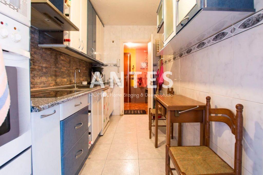 Home Staging en vivienda amueblada en Móstoles, Madrid. Cocina. ANTES