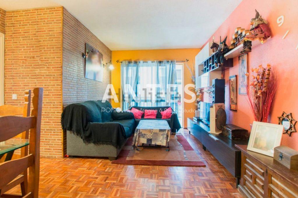 Home Staging en vivienda amueblada en Móstoles, Madrid. Salón. ANTES