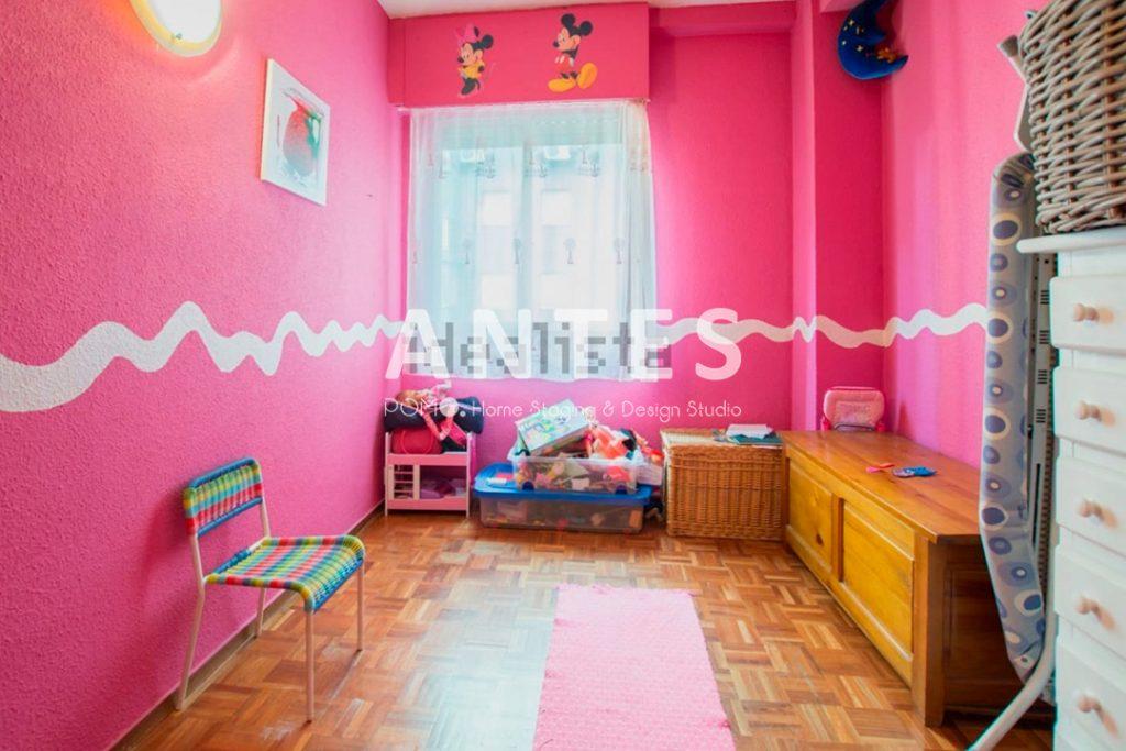 Home Staging en vivienda amueblada en Móstoles, Madrid. Segunda habitación. ANTES