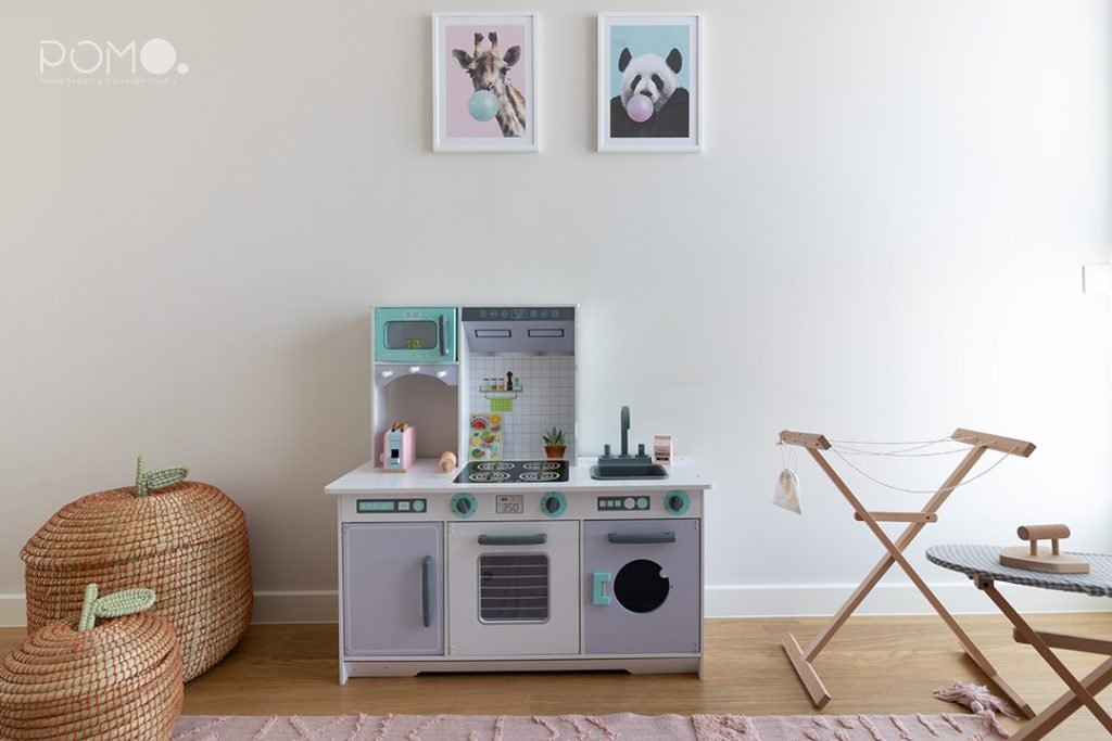 POMO. Home Staging & Design Studio. Habitación juegos & Estudio. Proyecto Zuazo, Madrid. Habitación de juegos infantil 2