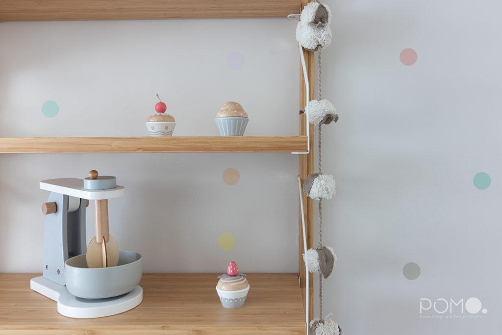POMO. Home Staging & Design Studio. Habitación juegos & Estudio. Proyecto Zuazo, Madrid. Detalle 2 habitación infantil