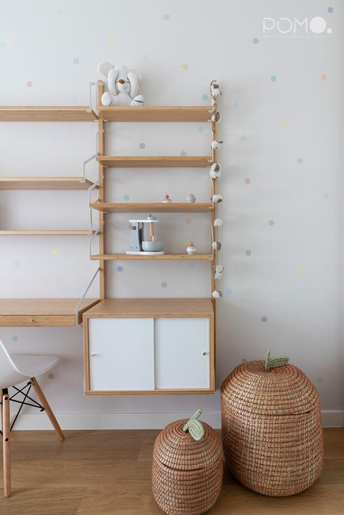 POMO. Home Staging & Design Studio. Habitación juegos & Estudio. Proyecto Zuazo, Madrid. Detalle habitación infantil