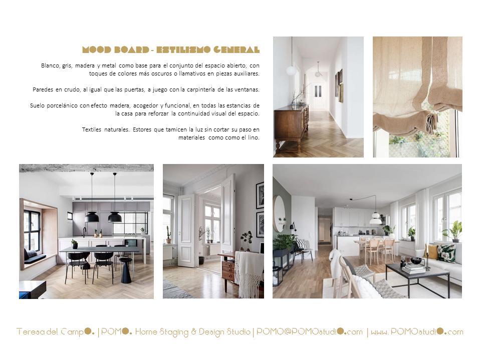 POMO. Home Staging & Design Studio. Proyecto Decoración Interiores Cubela, A Coruña. Mood Board General