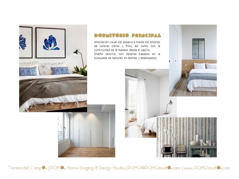 POMO. Home Staging & Design Studio. Proyecto Diseño Interiores Arca Agua. Mood Board Dormitorio Principal