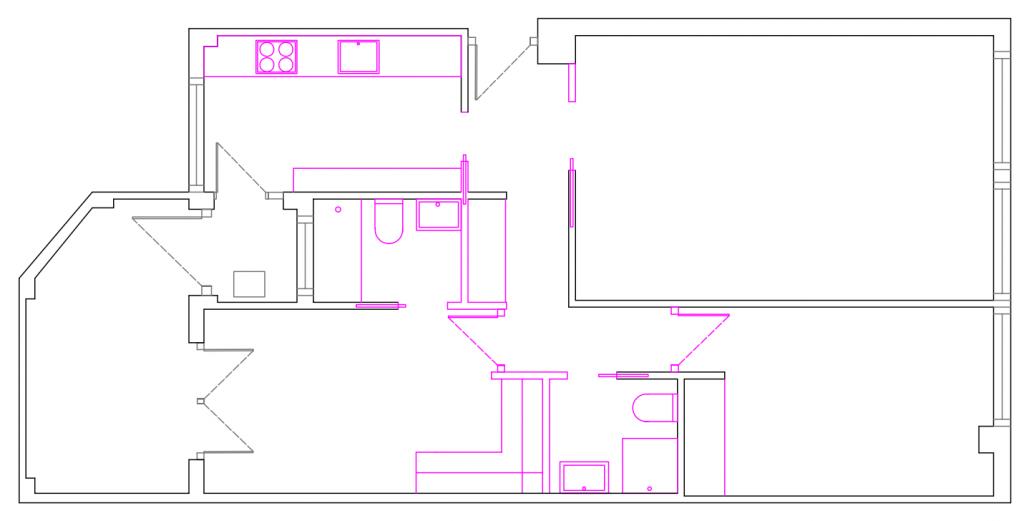 POMO. Home Staging & Design Studio. Proyecto Diseño Interiores Arca de Agua. Distribución Opción B