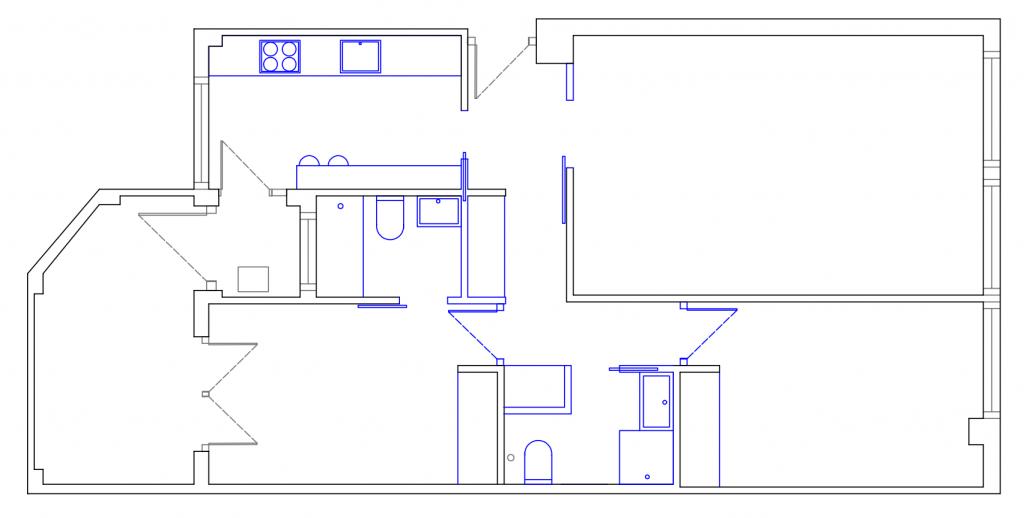 POMO. Home Staging & Design Studio. Proyecto Diseño Interiores Arca de Agua. Distribución Opción D