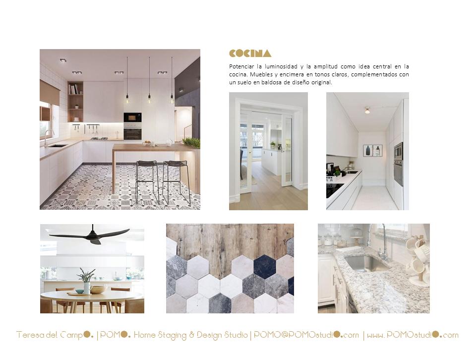 POMO. Home Staging & Design Studio. Proyecto Diseño Interiores Arca de Agua. Mood Board Cocina
