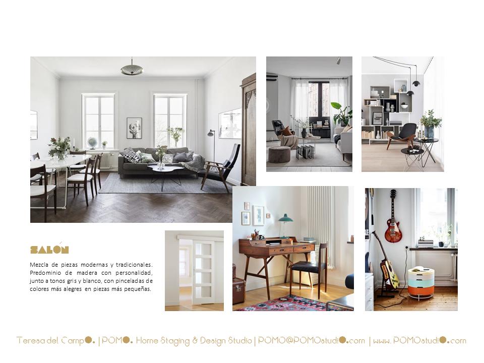 POMO. Home Staging & Design Studio. Proyecto Diseño Interiores Arca de Agua. Mood Board Salón Comedor