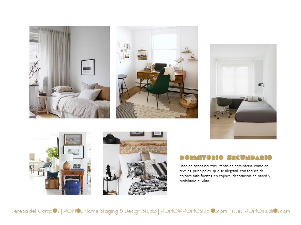 POMO. Home Staging & Design Studio. Proyecto Diseño Interiores Arca de Agua. Mood Board dormitorio segundo